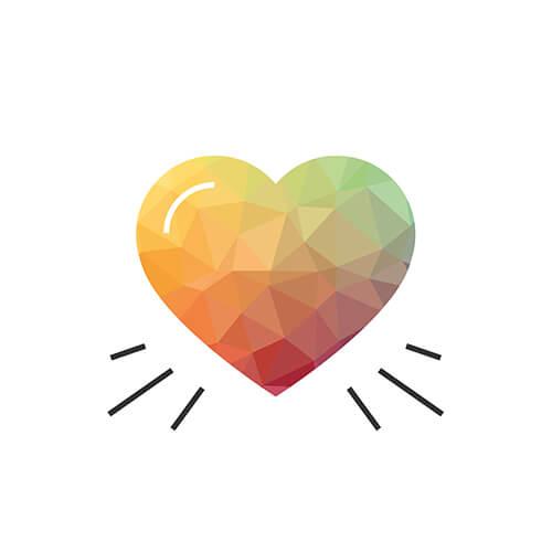Herzblut: Herz Icon aus dem Icon-Set, das wir für den neuen Markenauftritt entwickelt haben.