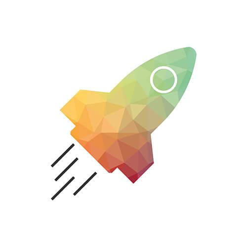 Teamplayer: Rakete Icon aus dem Icon-Set, das wir für den neuen Markenauftritt entwickelt haben.