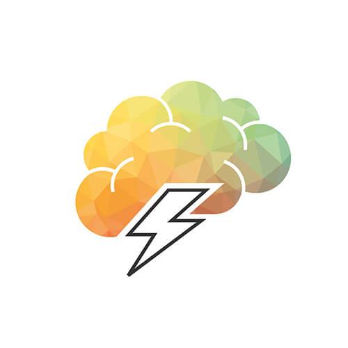 Geistesblitze: Gewitterwolke Icon aus dem Icon-Set, das wir für den neuen Markenauftritt entwickelt haben.