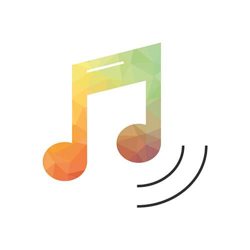 Playlistsongs: Noten Icon aus dem Icon-Set, das wir für den neuen Markenauftritt entwickelt haben.