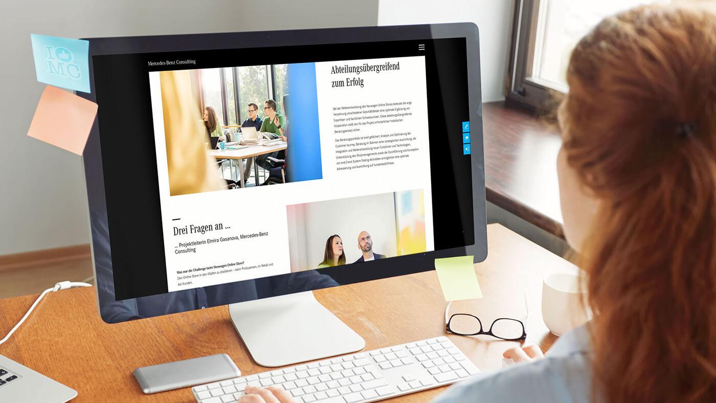 Die neue Webseite sitzt: mercedes-benz-consulting.de