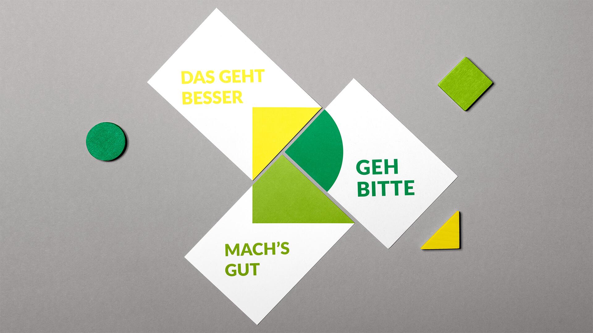 Employer Branding: Postkarten für Personalmessen. Auch damit erzählen wir, welche Vorteile das Landratsamt bietet.