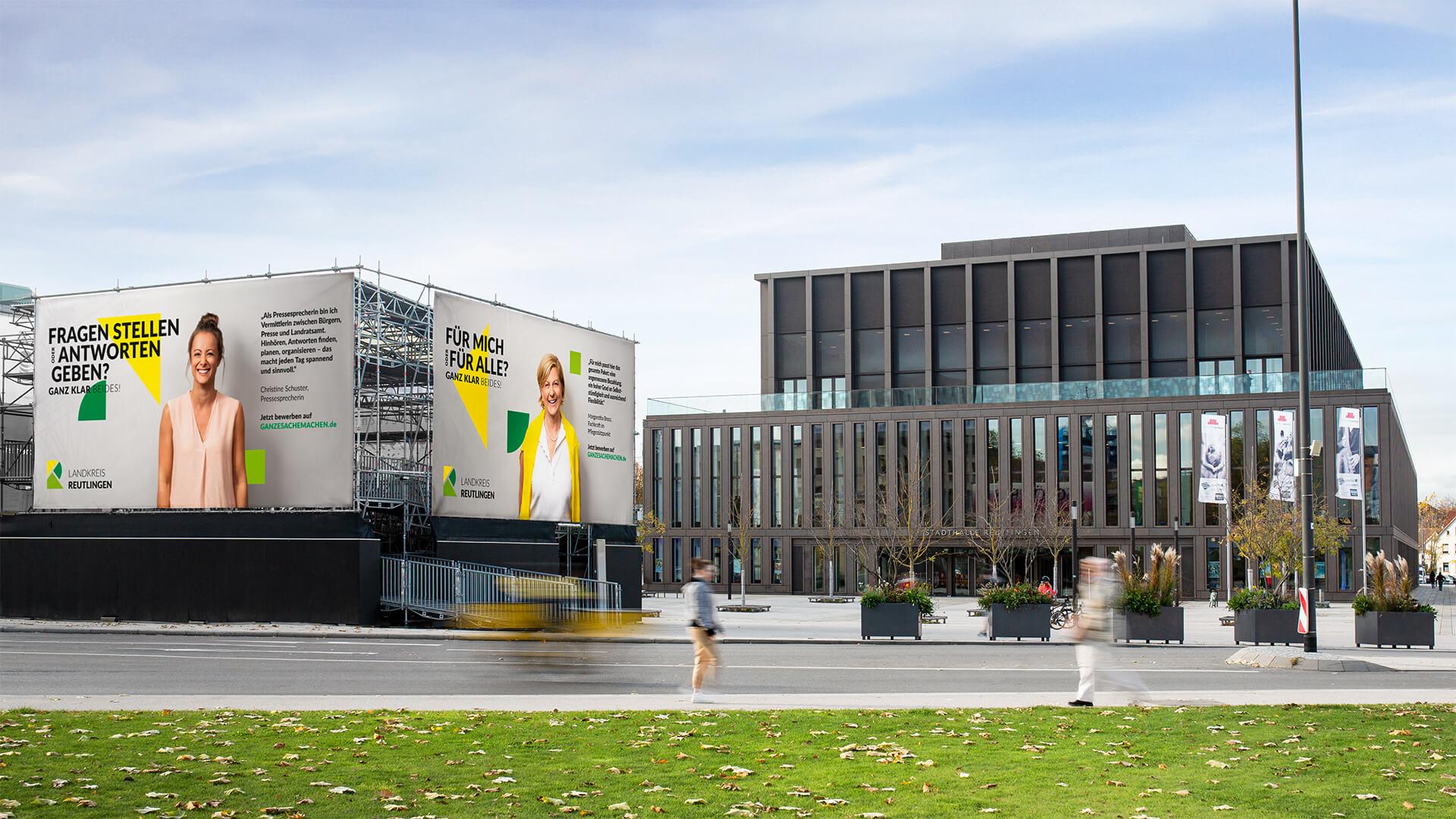 Employer Branding mitten in der Stadt: der Arbeitgeber Landratsamt Reutlingen stellt sich vor.
